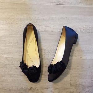 Kate Spade black satin ballet flats size 7 B